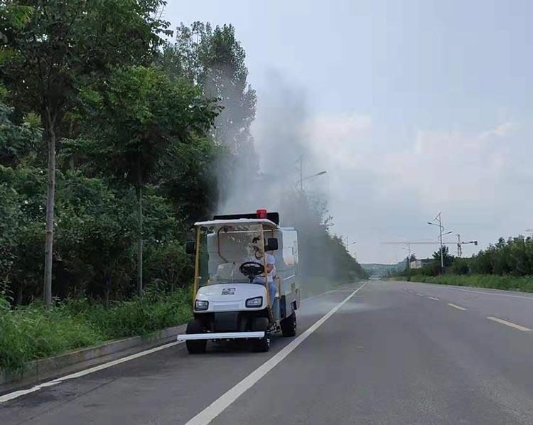 高压清洗车的喷雾抑尘功能