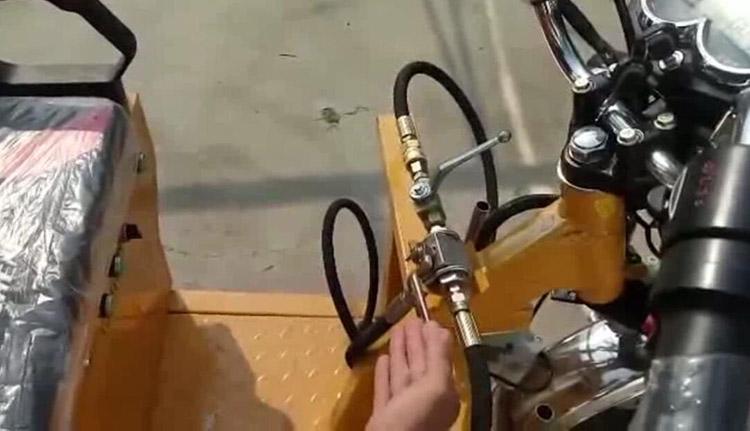 高压清洗车卷管器通水开关