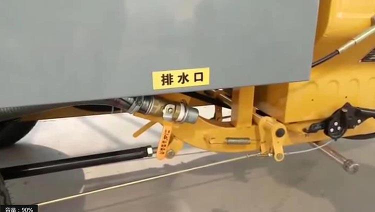 高压清洗车排水口