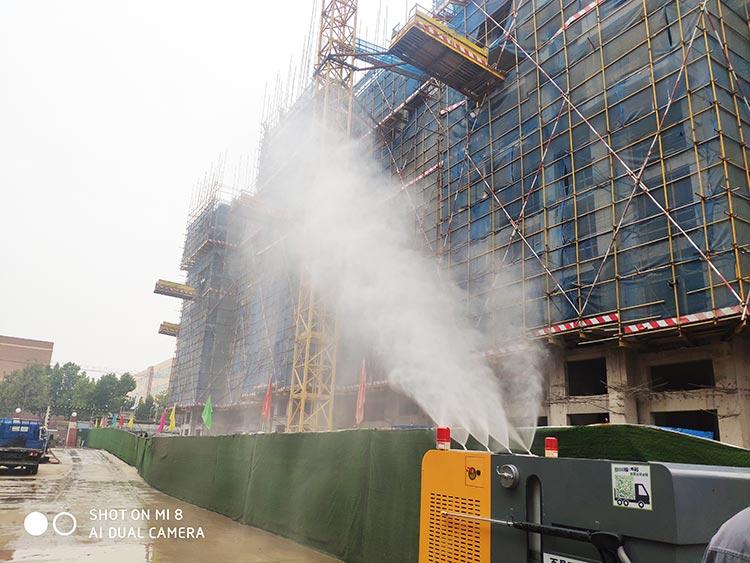 高压冲洗车用于工地喷雾抑尘
