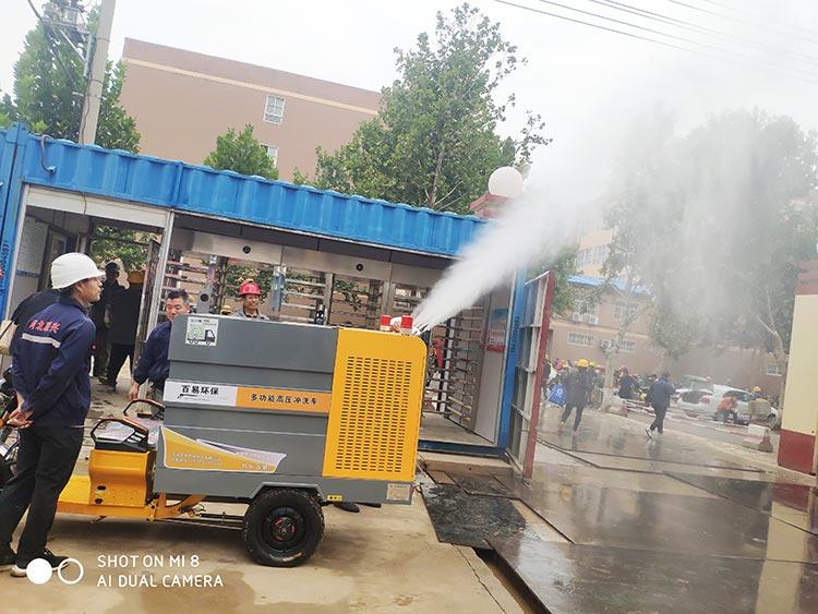 高压冲洗车用于建筑工地喷雾降尘