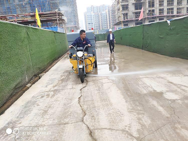 百易高压冲洗车建筑工地道路冲洗降尘