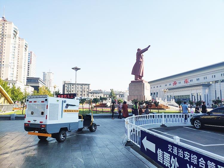 百易高压冲洗车BY-C10进驻辽宁丹东火车站