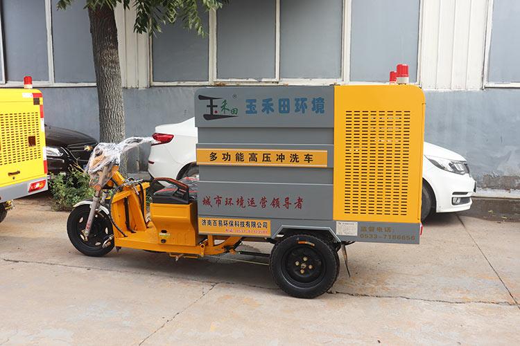 玉禾田环境引进一批多功能高压冲洗车
