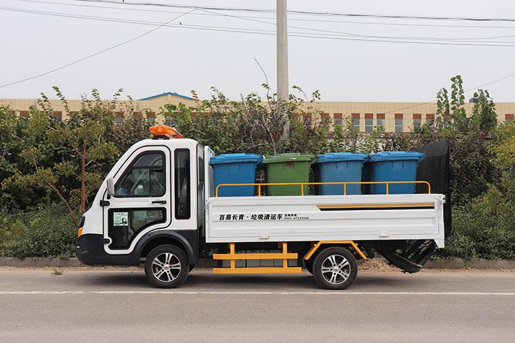 百易长青电动四轮八桶垃圾运输车图片
