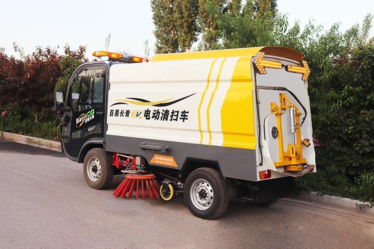 百易长青纯电动道路扫地车图片