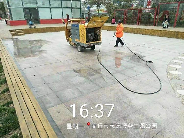 多功能高压冲洗车可用于公园广场地砖冲洗