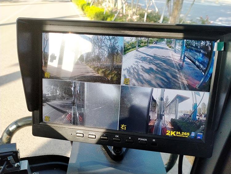 百易中型电动扫地车视频监控系统
