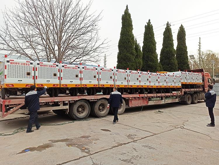 北京环卫公司引进百易纯电动高压冲洗车发货现场