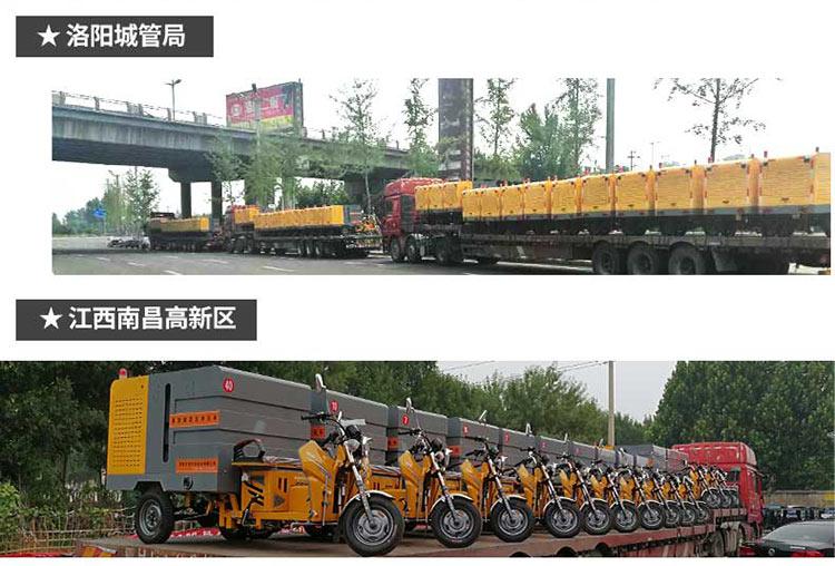 洛阳城管局和南昌高新区采购百易高压冲洗车