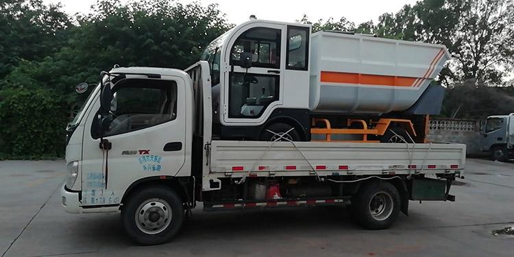 纯电动垃圾清运车发货