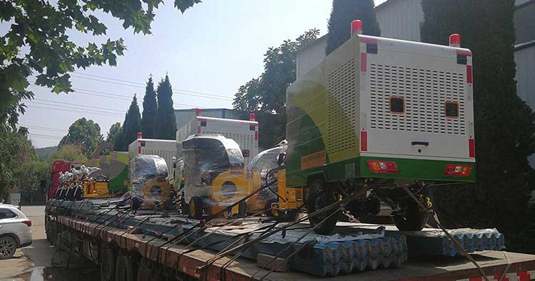百易吸叶机和环卫高压冲洗车走货