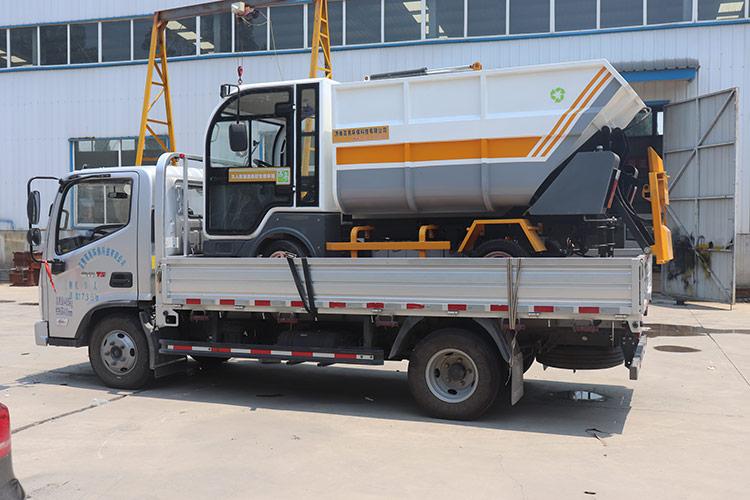 百易纯电动垃圾清运车客户案例