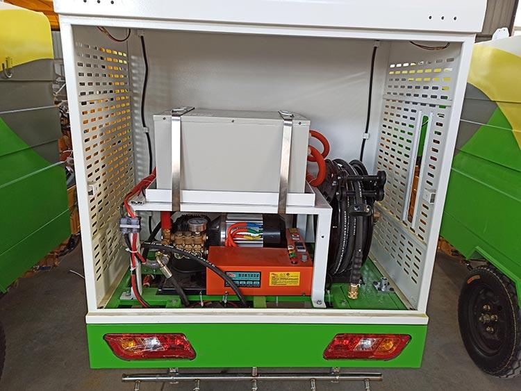 百易纯电动高压清洗车配置图
