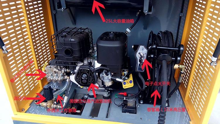 百易小型电动三轮高压冲洗车主要配置