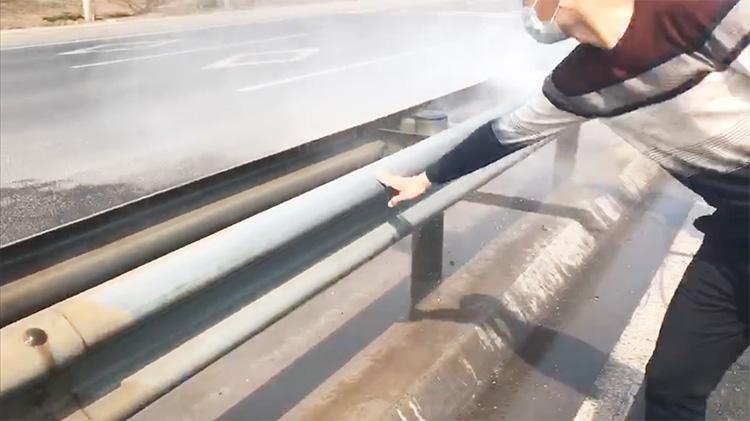 百易小型高压冲洗车护栏冲洗干净快速