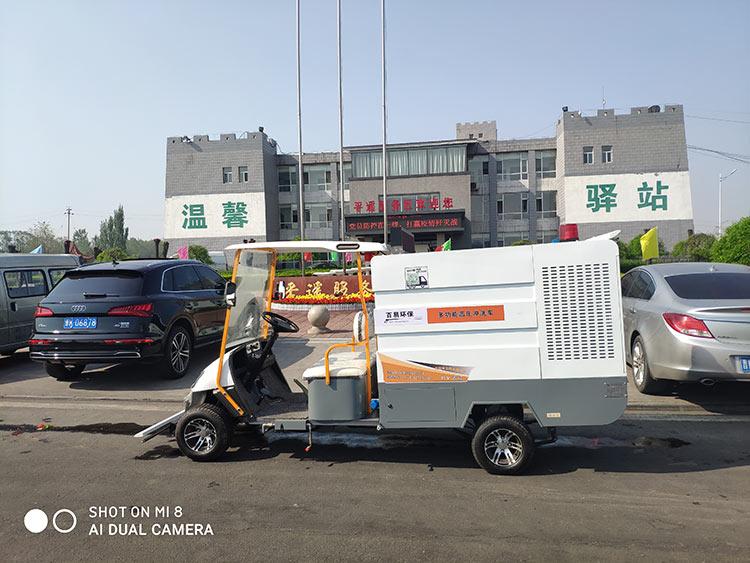 百易四轮多功能高压冲洗车到货现场