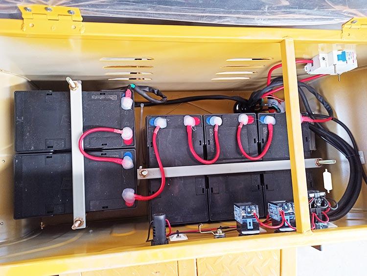 百易小型高压清洗车配置天能电池