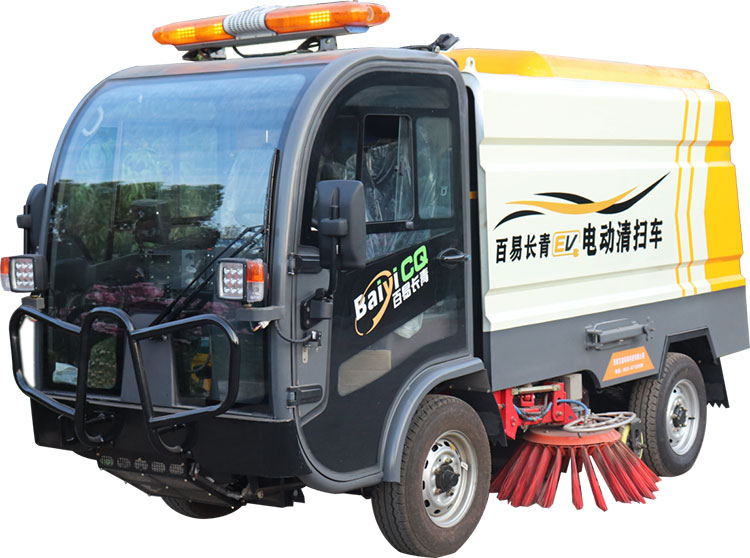百易纯电动清扫车产品图片
