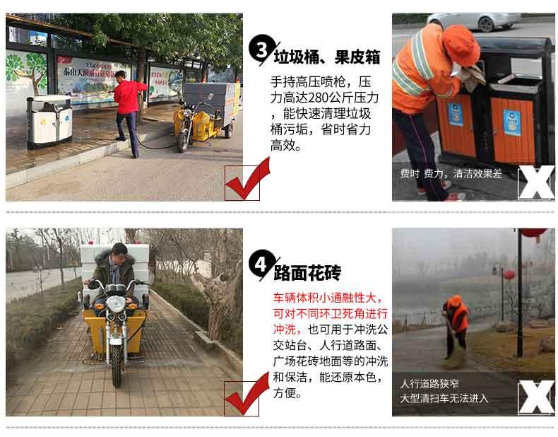 纯电动高压冲洗车产品应用