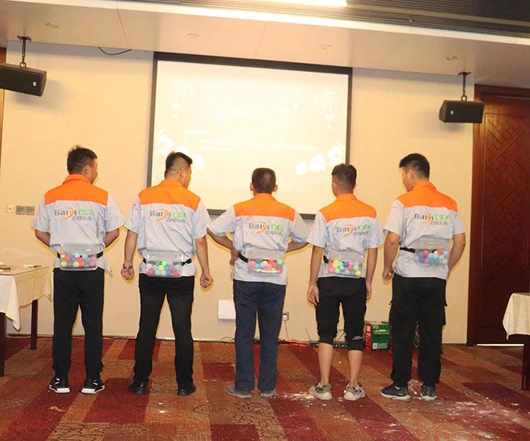 济南百易五周年庆游戏环节