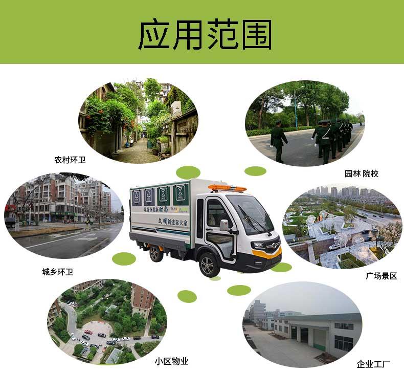此四分类纯电动垃圾清运车应用范围