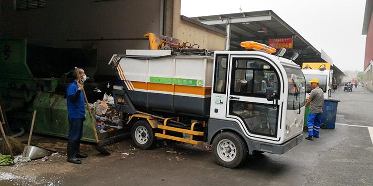 一清环境引进一批纯电动垃圾清运车