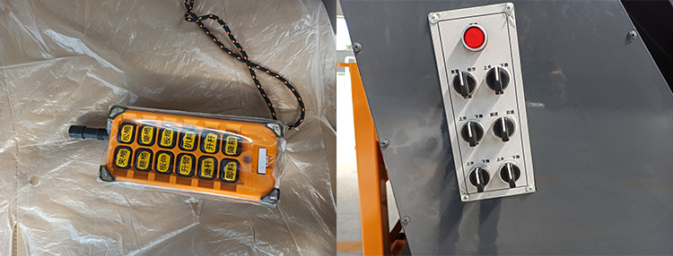 纯电动垃圾清运车采用无线遥控装置