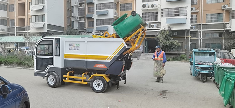 电动后装压缩式对接垃圾车
